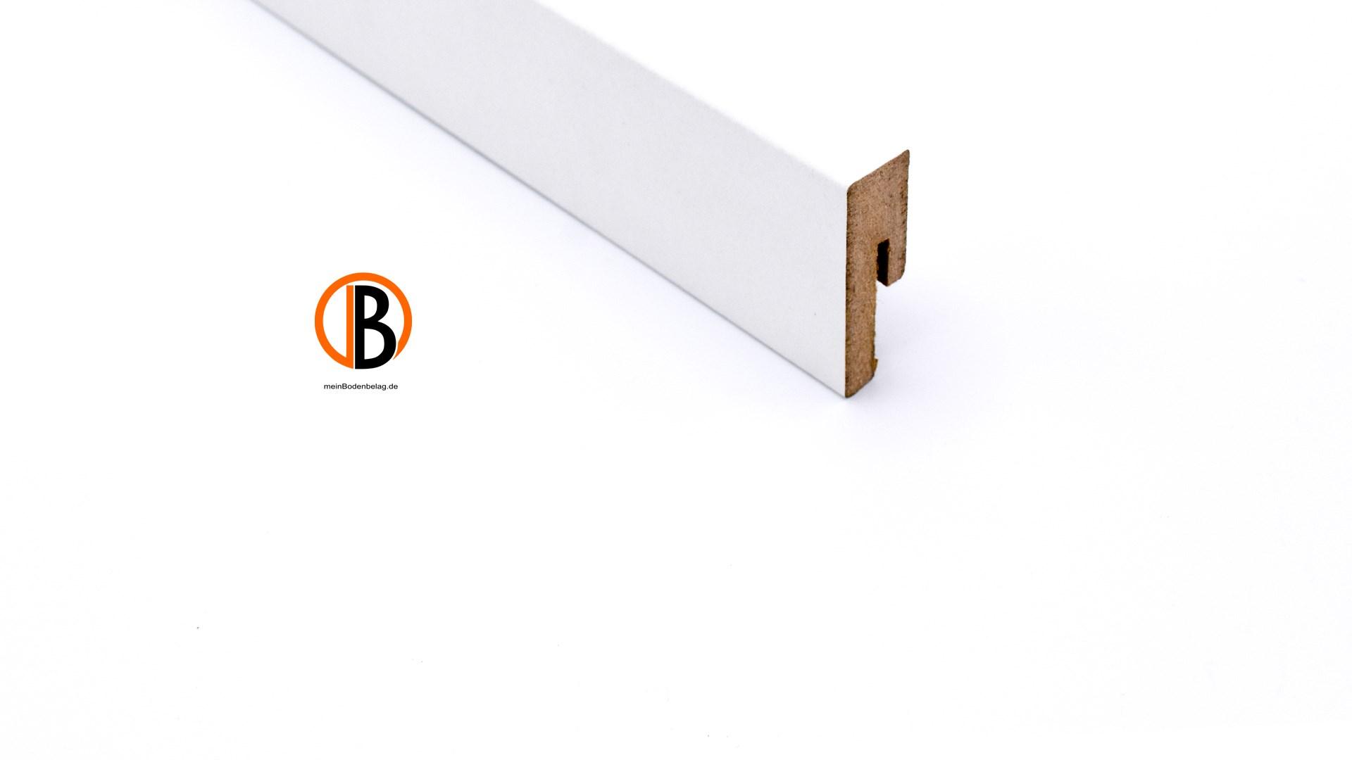 muster - schöner wohnen sockelleiste 1 weiß 16x50mm, 2,57m