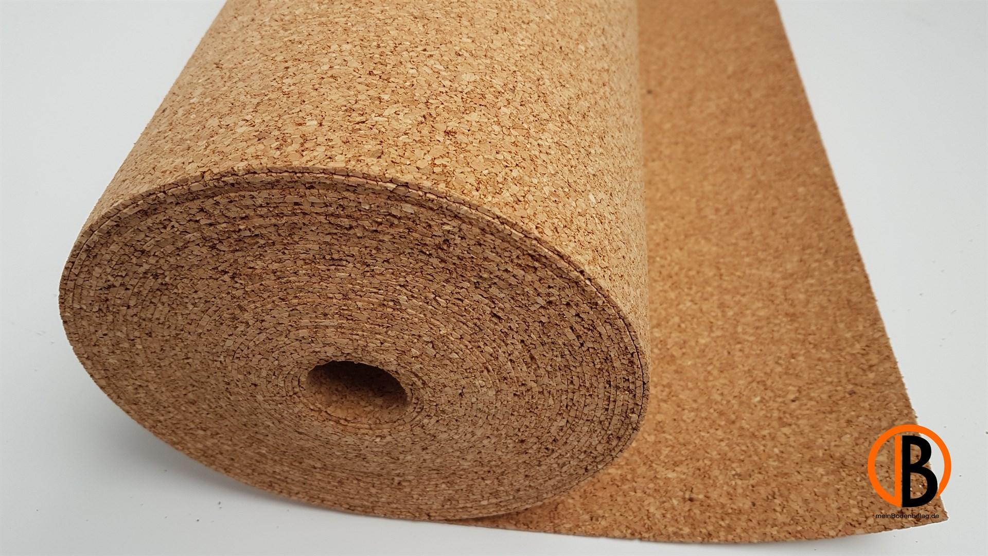kork-trittschalldämmung 2mm 10 m2/rolle