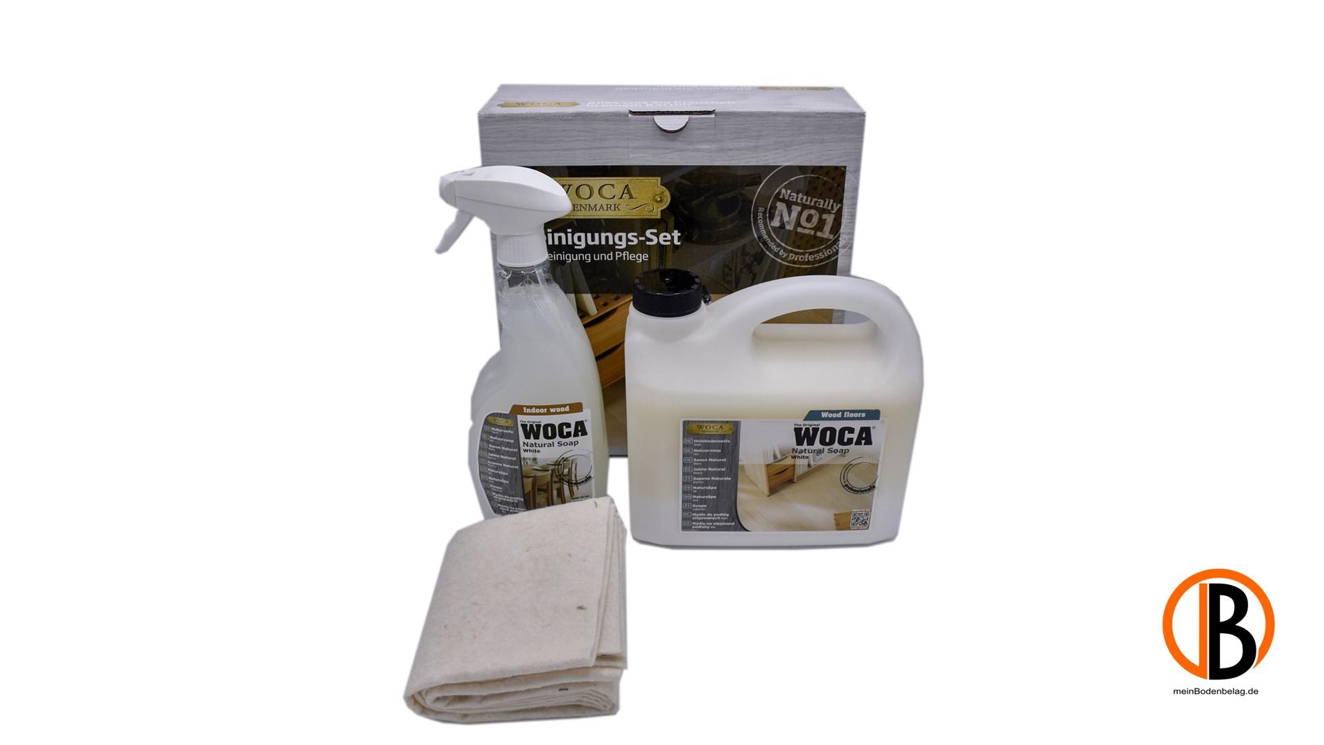 WOCA Reinigungsset weiß inkl. 2,5l Holzbodenseife + 0,75l Seifenspray 34022091