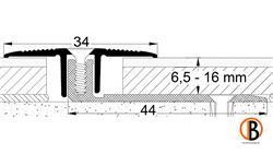 Übergangsprofil 8221, Alu elox. Edelstahl, 270cm lang