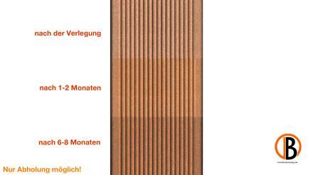 megawood CLASSIC Jumbo naturbraun 21x242x4200 Barfußdiele massiv