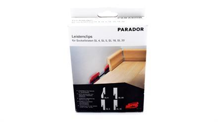 Parador Päckchen Leistenclipse rot für Sockelleisten SL 1, 4, 5, 18 & 20, 24 St./Pack