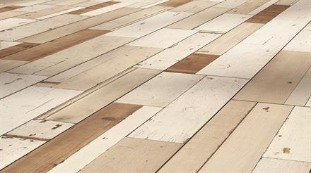 Parador Laminat Trendtime 6 4V Brushboard White Seidem Struk gefast