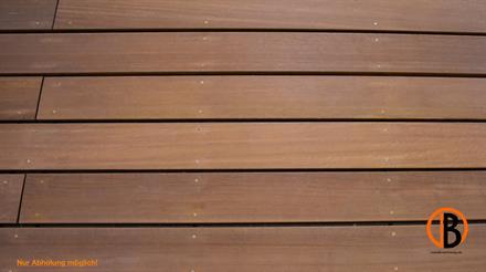 Bangkirai Terrassendiele 4-seitig gehobelt, glatt,
