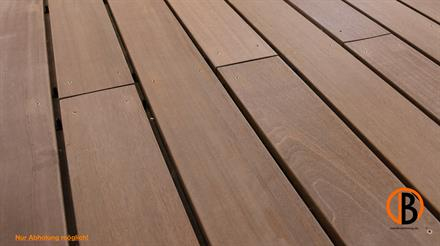 Bangkirai Terrassendiele  4-seitig gehobelt, glatt Premium/Select  25x145mm  3,05m lang