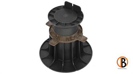 ferax Stellfüße für Holzterrasse 140-230mm schwarz verstärktes Polypropylen schwarz,  Tragkraft 1,5 t