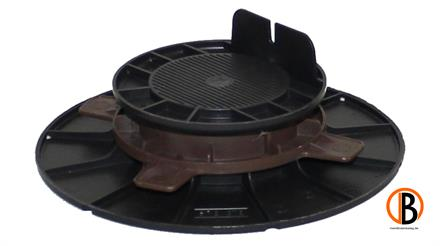 ferax Stellfüße für Holzterrasse 40-60 mm schwarz verstärktes Polypropylen schwarz,  Tragkraft 1,5 t