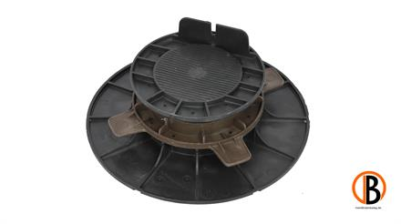 ferax Stellfüße für Holzterrasse 50-80 mm schwarz verstärktes Polypropylen schwarz,  Tragkraft 1,5 t
