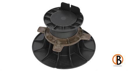 ferax Stellfüße für Holzterrasse 80-140 mm schwarz verstärktes Polypropylen schwarz,  Tragkraft 1,5 t
