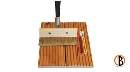 ferax Streichbürste für Öle, 21 cm breit Holzrücken mit Stielhalterung