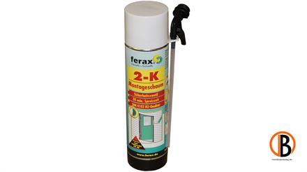 ferax 2K-Zargenschaum mit Sicherheitsventil, Nachtropfschutz, 400ml, inkl. Handschuhe