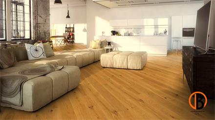 Hain Parkett Classic Ambiente 2200x195x15mm Eiche Landhausdiele, farblos geölt, gebürstet