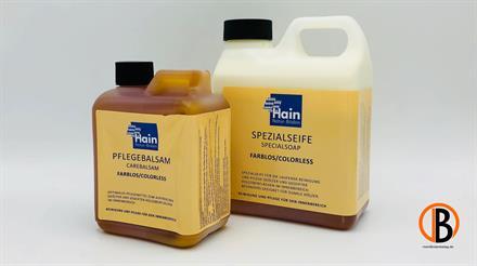 Hain Pflege-Set, farblos inkl. 1l Spezialseife, 0,5l Pflegebalsam, Tuch, Pad, …