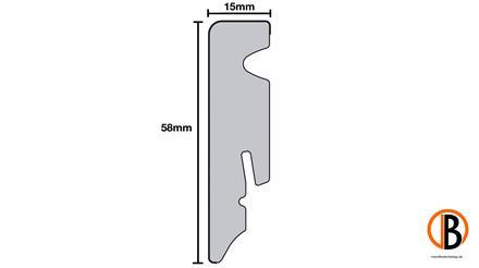 KWG Sockelleiste für SAMOA L-2001 Gletschereiche 2,4m x 1,5cm x 5,8 cm