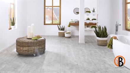 KWG Designervinyl Antigua Stone HDF Cement light gefast