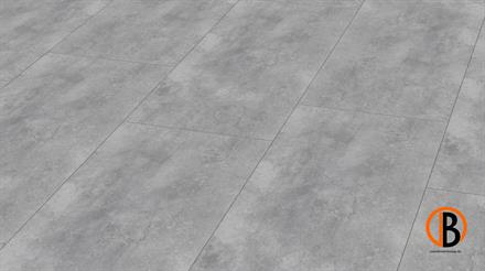 KWG Designervinyl Antigua Stone HDF Cement grey gefast