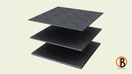 Megawood Fix Step System Gummipad 10 mm 30 x 30 cm