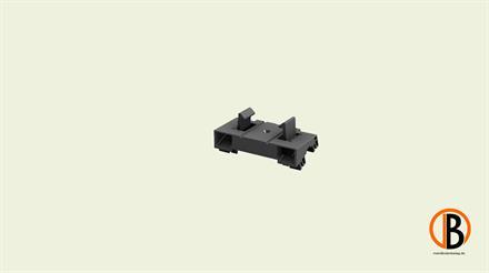 Megawood Fix Step System Aufnahme Standard für einfache UK 40x60 mm schwarz