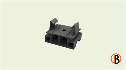 Megawood Fix Step System Aufsatzteil erhöhter Aufbau schwarz
