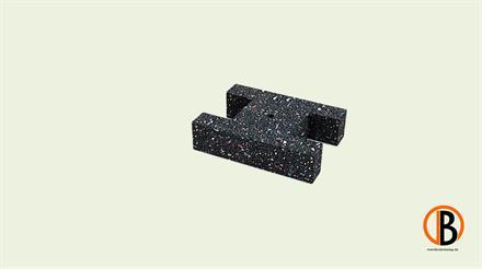 Megawood Fix Step System Komfortpad erhöhter Aufbau schwarz