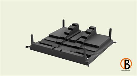 Megawood Fix Step System Randplatte DUO für doppelte UK 40x60 mm schwarz