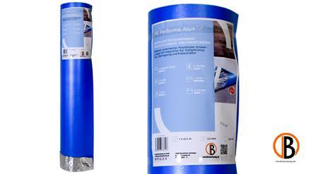 PUM 100 Classic Alu Trittschalldämmung 2mm inkl. ALU-Dampfbremse, 8,5 m²/Rolle