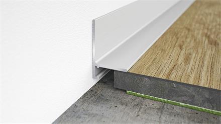 Minileiste Sockelleiste Silber EV1 Aluminium, 16x26x2000mm