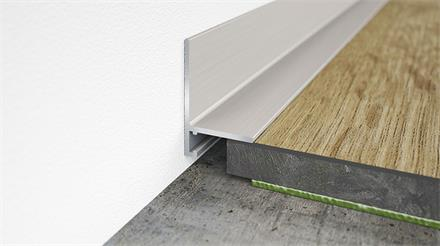 Minileiste Sockelleiste Titan C31 Aluminium, 16x26x2000mm