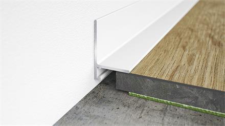 Minileiste Sockelleiste Weiß RAL 9016 Aluminium, 16x26x2000mm