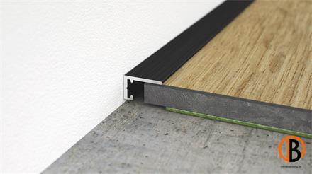 Minileiste Abschlussleiste Schwarz C35 Aluminium, 10x6x2000mm, AL10X5