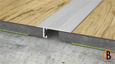 Minileiste Übergangsprofil Silber EV1 Aluminium, 20x6x2000mm, UL20X5