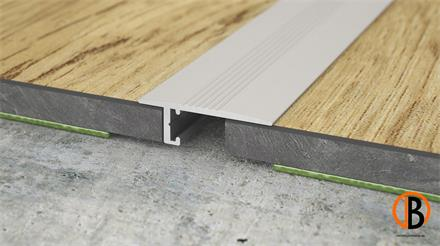 Minileiste Übergangsprofil Titan C31 Aluminium, 20x6x2000mm, UL20X5