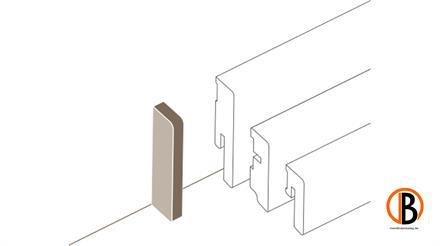 Parador Kappe variabel Abschlussk. Typ 2 SL 3/5/6/18  Weiss, 2 St./Pack