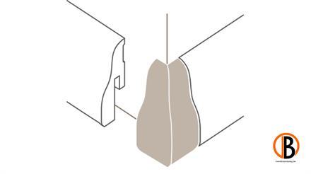 Parador Außenecken Typ 2 für SL 4 Alu Optik, 2 St./Pack