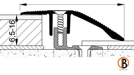 Anpassungsprofil 8222, Alu-elox. Edelstahl, 100cm lang