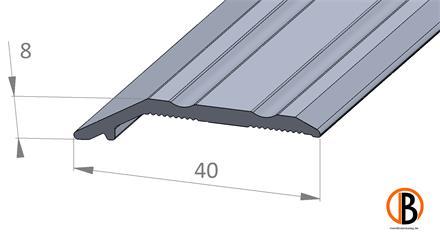 Ausgleichsprofil 8404 sk Alu-elox. selbstklebend Farbton: Edelstahl, 1,00m lang 40x6-9mm