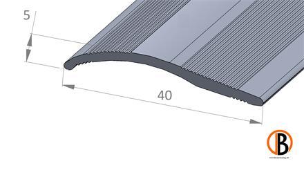 Ausgleichsprofil 8420 sk Alu-elox. selbstklebend Farbton: Edelstahl, 2,70m lang 40x0-20mm