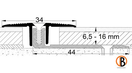 Übergangsprofil 8221, Alu elox. Sand, 270cm lang