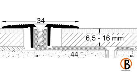 Übergangsprofil 8221, Alu elox. Bronze, 100cm lang