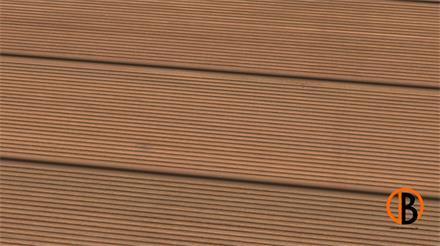 Bangkirai Prime KD Sichtseite gerillt 2,45m Terrassendiele 25 x 145 mm
