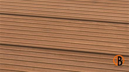 Bangkirai Prime KD Sichtseite genutet 2,45m Terrassendiele 25 x 145 mm
