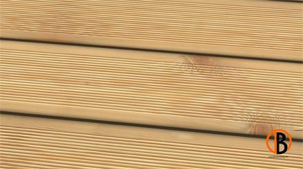 Lärche sibirisch us-hbf. KD Sichtseite gerillt 3,00m Terrassendiele 26 x 143 mm