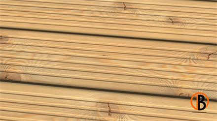 Lärche sibirisch us-hbf. KD Sichtseite genutet 3,00m Terrassendiele 26 x 143 mm