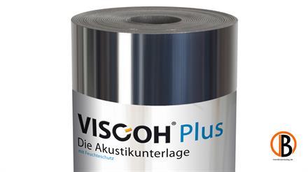Viscoh AIR Plus Trittschalldämmung Alu-kaschiert, inkl. Klebeband, 12,5 m2/Rolle