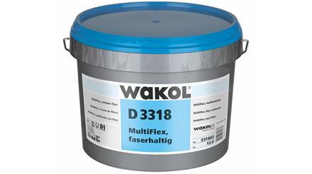 Wakol D 3318 Multiflex  Kleber faserhaltig, Eimer 13 kg.