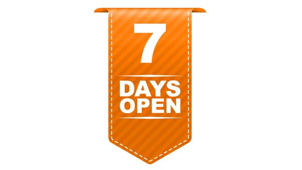 7 Tage fast rund um die Uhr geöffnet